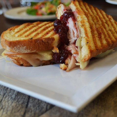 Quest Food Management Services Turkey and Cranberry Sandwich